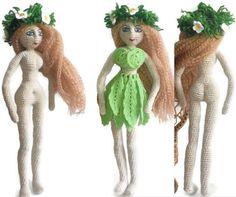 Crochet Doll Barbei Handmade doll Amigurumi Doll crochet