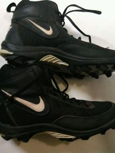 new style 36542 4cb3a Vintage 2000s Nike Football Cleats Mens High Top US Sz 11  eBay