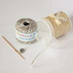 Starter Kit crochet in handmade gift box iron hook by DreamsCorner, €20.00