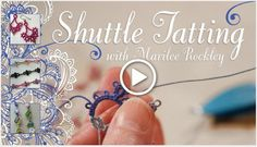 Tatting is a beautiful and rare craft where thread is knotted to form lace. There are two types of tatting and this page will give beginners an introduction to both, with patterns and video tutorials. Shuttle Tatting Patterns, Needle Tatting Patterns, Tatting Jewelry, Tatting Lace, Needle Tatting Tutorial, Tutorial Crochet, Knitting Quotes, Craft Tutorials, Video Tutorials