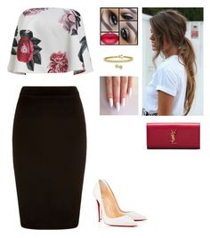 """Untitled #316"" by myrnalankreijer ❤ liked on Polyvore featuring Christian Louboutin, Yves Saint Laurent and Bling Jewelry"