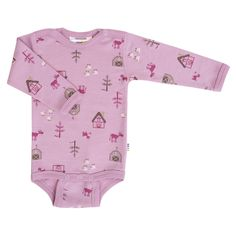 Adorable farm print on a wool onesie by Joha from Denmark. Available at Lillahopp