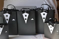 Tuxedo party favor gift bag customized by steppnout on Etsy, $5.00