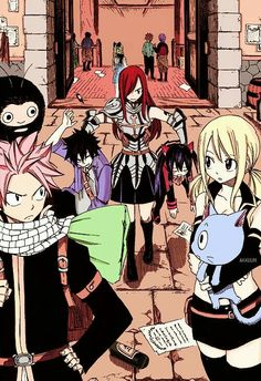 [Anime] : Fairy Tail [Manga] : Fairy Tail [Characters] : Natsu | Lucy | Gray | Wendy | Erza | Happy [Subject] : Fairy Tail Team