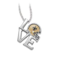 """I Love My Saints"" Sterling Silver Pendant Necklace $99"
