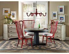 Sanctuary Brighton 48in Round Aluminum Dining Table   Hooker Furniture   Star Furniture   Hooker Furniture – Sam Moore – Bradington Young – Seven Seas