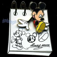 Disney Pin from The Sketch Pad Collection Mickey Mouse Drawings 3D   eBay