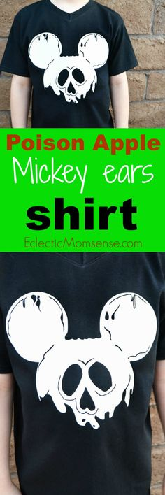 diy disney poison apple mickey ears shirt craft disney