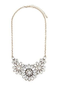 Rhinestone Flower Statement Necklace | Forever 21 | #f21accessorize