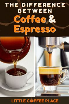 If you've ever tasted black coffee compared to an espresso shot, you know there is a big difference in taste alone. But what other differences are there, and which one should you be drinking? Find out here! #littlecoffeeplace #coffee #espresso Little's Coffee, Coffee Talk, Espresso Coffee, Black Coffee, Espresso Shot, Espresso Drinks, Coffee Drink Recipes, Coffee Drinks, Coffee Klatch