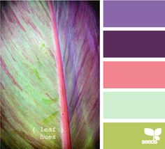 leaf hues--that minty color might just be the right color to paint the bedroom in...