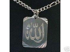 Allah Silver Muslim  Pendant Charm Islam Jewelry Sterling Silver 925 Jewelry