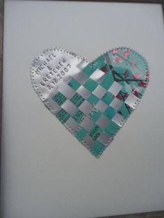 tin anniversary gift heart collage 10 year wedding anniversary