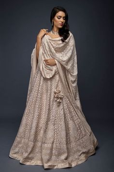 Indian/Ethnic Wear Where To Buy Chikankari Lehenga From? + Prices - Clocks For Your Home Indian Bridal Outfits, Indian Designer Outfits, Indian Designers, Indian Lehenga, Lehenga Choli, Anarkali, Bridal Lehenga, Sabyasachi, Dress Indian Style