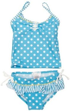 Pumpkin Patch Striped Spotted Tankini Set Girl's Swimsuit,£17.00