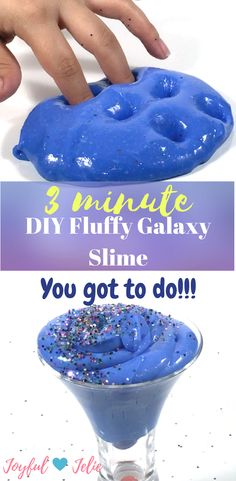 DIY Fluffy Galaxy Slime! How To Make The Best Slime In Just 3 Minutes! No Borax   Hey everyone!!! Check my Easy DIY Fluffy Galaxy Slime with NO BORAX, that will take you JUST THREE MINUTES to do it!! I will show you the easiest recipe to make your slime. So I hope you enjoy it! -Joyful Jelie