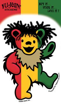 Grateful Dead Rasta Bear Decal Sticker