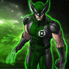 "23 Heroes Who Would Make Incredible Green Lanterns - ""Wolvergreen"""