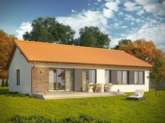 Projekt domu Danta 2 - widok 1 Home Fashion, Cabin, House Styles, Outdoor Decor, Home Decor, Decoration Home, Cabins, Cottage, Interior Design