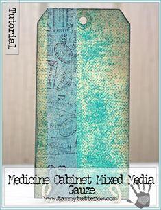 Background Basics | Medicine Cabinet Mixed Media | Gauze