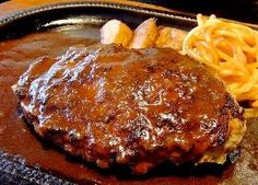 """Japanese Hamburger Steak ♥ Cooking Hawaiian Style...one pinner said..This was the 1st place winner in a """"Burger"""" contest I helped judge at a local company's employee contest."""