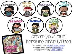 FREE  Could these be any cuter?!!! .....Spice up your literature circles with these fun badges. These badges make it easy to identify each group member's job and provide an added sense of responsibility within each group. You can read more about how I used these over at my blog Life in First Grade.