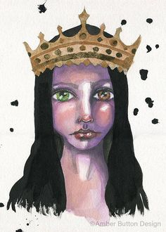 Queen Mary is a giclee print of one of my original mixed media art journal pieces. (The original was created on watercolor paper and is available here:) Ink used is Epson archival ink Printer used is an Epson artisan printer spcifically for fine art and wide format printing (its what print shops usually use) Paper is Epson Velvet fine art paper (100% cotton rag with a velvety matte finish) All prints are signed, titled and dated by me under the image. NOTE: The original painting is…