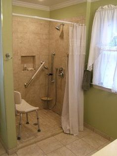 Bath Photos Handicapped Accessible Design, Pictures, Remodel, Decor And  Ideas   Page 3 I Will Use Blue And Pale Gold Tiles!