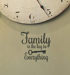 8X10 Family is the Key to Everything Vinyl wall by HouseHoldWords, $10.00