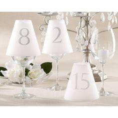 Elegant Table Number Vellum Shades (Numbers 1-15)