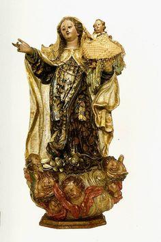 Nossa Senhora do Carmo - autor desconhecido madeira policromada e dourada, século XVIII - Portugal  Museu de Arte Sacra de São Paulo