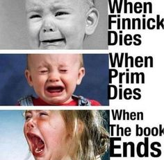 I was crying for so long Ioved them all i also cryed when Rue died it seems that only when Katniss loves someone they die