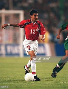 Football 2002 World Cup Qualifier African Second Round Group C 30th June 2001 Rabat Morocco 1 v Egypt 0 Egypt's Mohamed Barkat