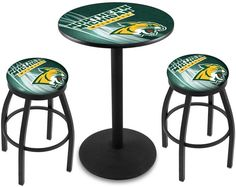 Northern Michigan Wildcats D2 Black Pub Table Set. Available in two table widths. Visit SportsFansPlus.com for Details.
