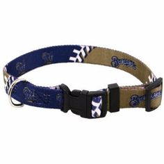 "-""Milwaukee Brewers Dog Collar"" - BD Luxe Dogs & Supplies"