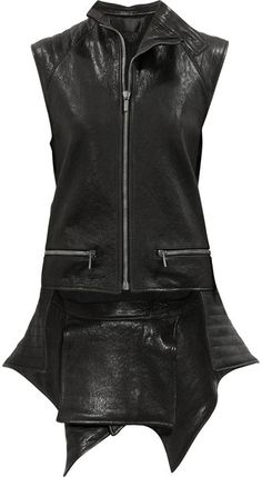 Haider Ackermann Quilted tail Leather Vest