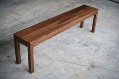 Solid Walnut Parsons Bench by hedgehouse on Etsy https://www.etsy.com/listing/94576015/solid-walnut-parsons-bench
