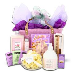 Elegant Spa Tote ($39.99)- This lovely Spring tote evokes the heavenly scent of roses and relaxing afternoons at the spa. Our beautiful  lavender burlap tote holds everything needed for a perfect spa and tea getaway. This gift is both soothing and sensational!