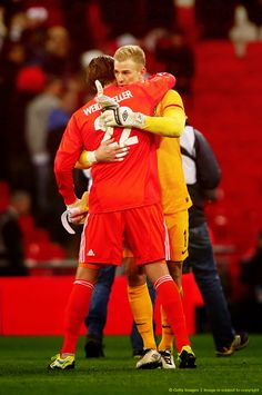 Roman Weidenfeller and Joe Hart