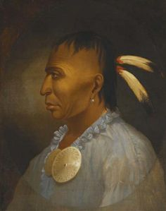 """""""Awbonwaishkum,"""" Southern Algonquian. 18th Century. I imagine this to be Manoke  the Indian scout from Quebec. He meets Lord John Grey prior to the Battle of the Plains of Abraham in 1759 in the novel THE CUSTOM OF THE ARMY"""