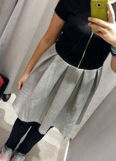 Kup mój przedmiot na #vintedpl http://www.vinted.pl/damska-odziez/krotkie-sukienki/11700099-czarno-szara-sukienka