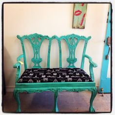 Antique Upcycled Bench
