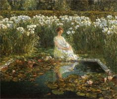 Lilies - Childe Hassam - WikiPaintings.org