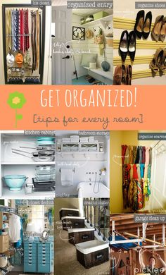 Awesome tips for de-cluttering and organizing EVERY ROOM!