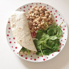 The lovely @charl0ttes_bbg asked #whatsonmyplate  I haven't had lunch yet... But this was what I had yesterday  a feta guacamole & green pepper wrap with spinach and chickpeas tossed in garlic feta sundried tomatoes basil oil and mint. So good  Tagged girls what are you eating?