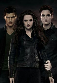 """Summit just released this awesome new promo artwork featuring Edward, Bella and Jacob from the upcoming film """"The Twilight Saga: Breaking Dawn"""" featuring Twilight Jacob, Twilight Poster, Vampire Twilight, Twilight Saga Books, Twilight Saga Series, Twilight Edward, Twilight Cast, Edward Bella, Twilight New Moon"""