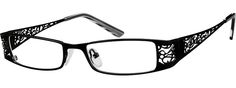Black Stainless Steel Contemporary Fashion Looking Full-Rim Frame 499421