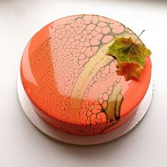 Mirror cake with Autumn colors