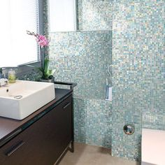 This Photo Features City Lights South Beach 1 2 X Mosaic On Tile Bathroomsroom