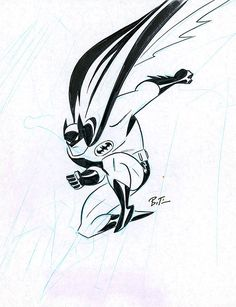 Batman Sketch by Bruce Timm Batman Comic Art, Im Batman, Batman Comics, Batman Robin, Batman Stuff, Comic Book Artists, Comic Book Heroes, Comic Artist, Comic Books Art